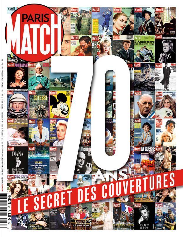 Notre hors-série anniversaire « 70 ans, le secret des couvertures de Match » est en vente chez votre marchand de journaux...