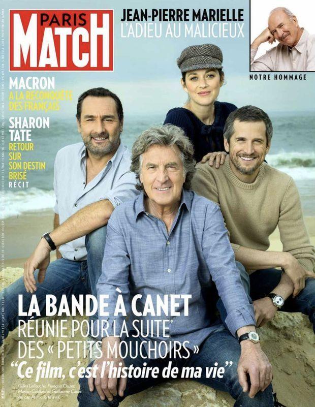 Guillaume Canet et Marion Cotillard entourés de leur bande pour «Nous finirons ensemble», en kiosque le 2 mai 2019