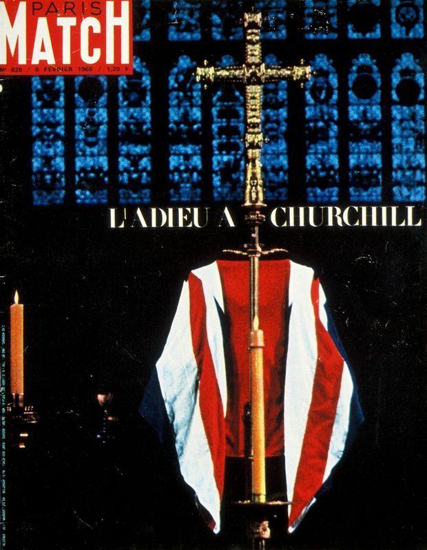 La une de Paris Match de janvier 1965 pour la mort de Winston Churchill.