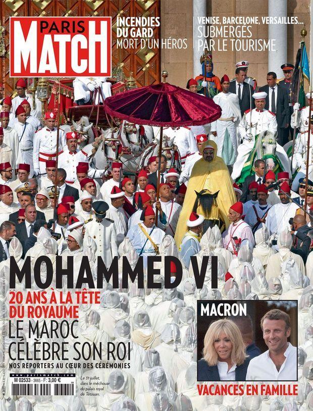Mohammed VI en couverture de Paris Match numéro 3665.
