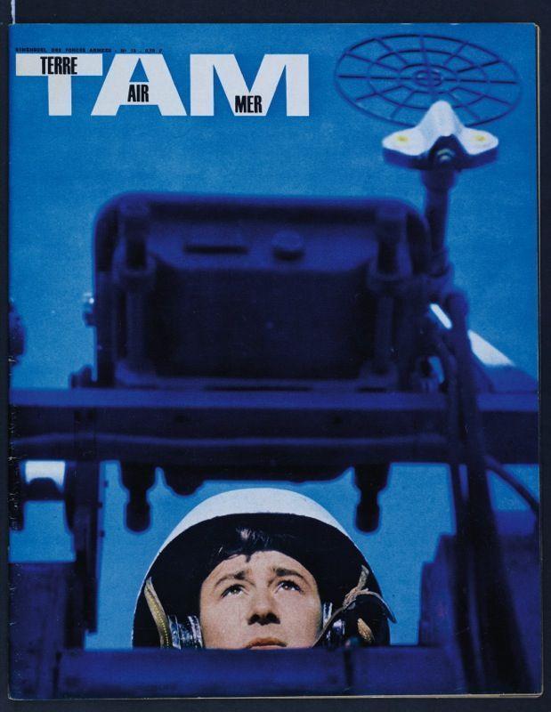 Couverture de « TAM » (Terre, air, mer) de mars 1963, signée Depardon.