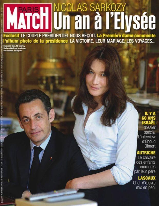 Couverture du Paris Match numéro 3077 du 7 mai 2008.