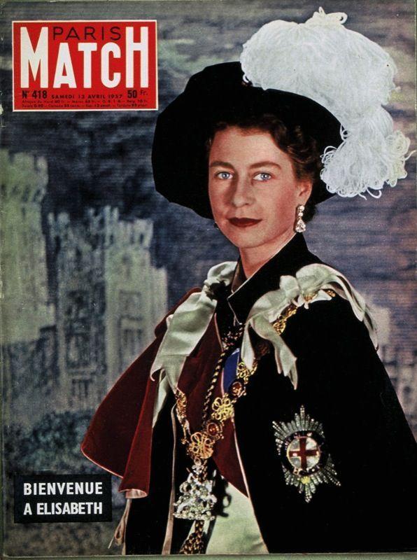 Couverture du Paris Match numéro 418 du 13 avril 1957