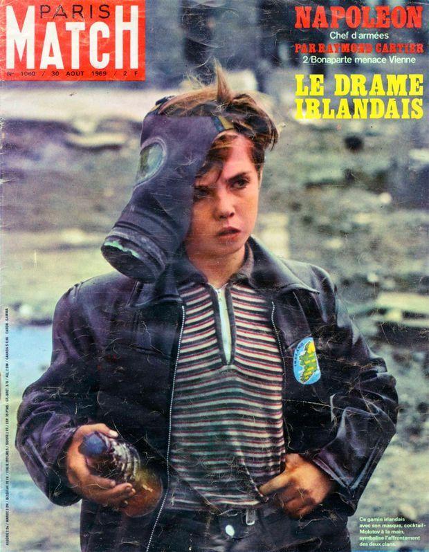 Le drame irlandais en couverture de Paris Match n°1060, 30 août 1969.