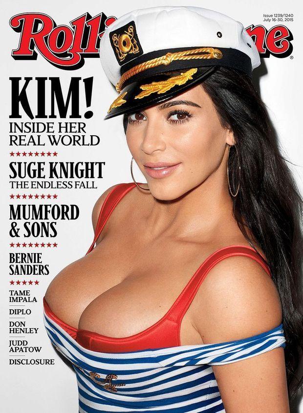 Kim Kardashian en couverture du dernier