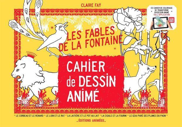 Le cahier de dessin animé-Les fables de La Fontaine