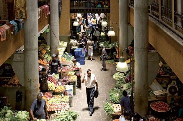 Un marché à l'île Maurice