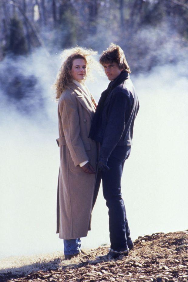 Nicole Kidman et Tom Cruise sur le tournage du film «Jours de tonnerre» de Tony Scott, où ils se sont rencontrés en 1990.
