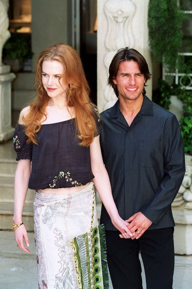Nicole Kidman et Tom Cruise lors de la promotion à Paris du film «Eyes Wide Shut» de Stanley Kubrick, en septembre 1999.