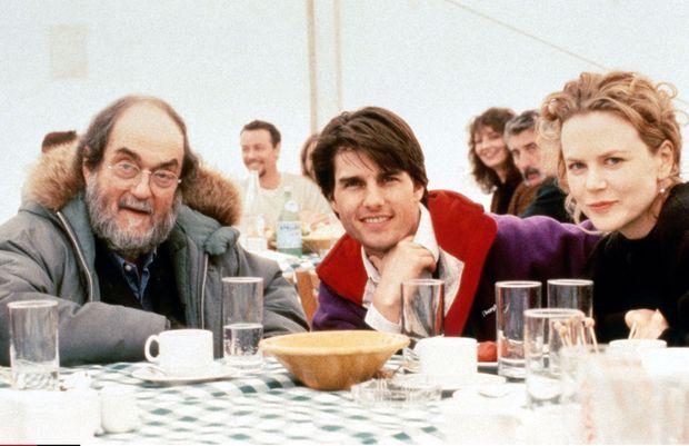 Stanley Kubrick, Tom Cruise et Nicole Kidman sur le tournage d'«Eyes Wide Shut» en 1999.