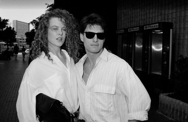 Nicole Kidman et Tom Cruise en août 1990.