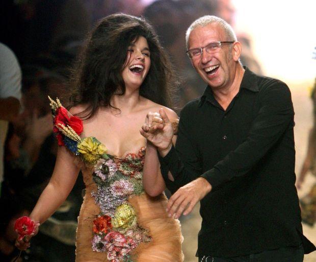 Crystal Renn et Jean Paul Gaultier-