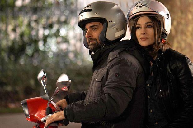 Grégory Montel et Monica Bellucci.