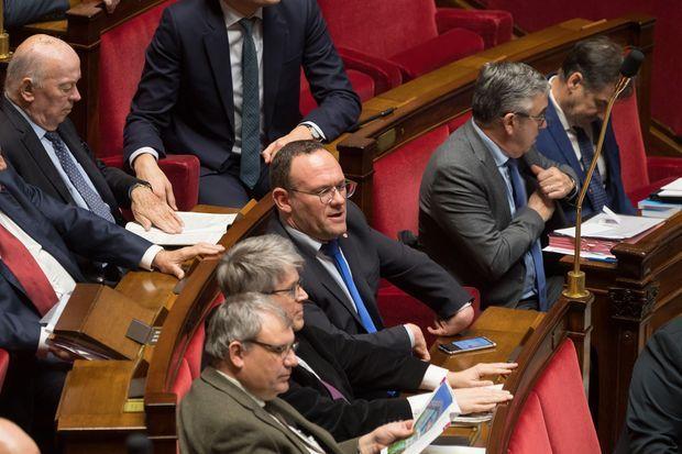 Damien Abad à l'Assemblée nationale le 10 décembre.