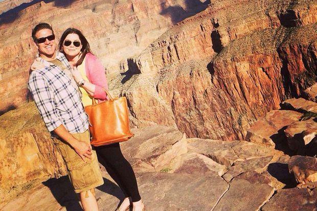 Britanny et son mari Dan ont pu visiter le Grand Canyon ce mois-ci.