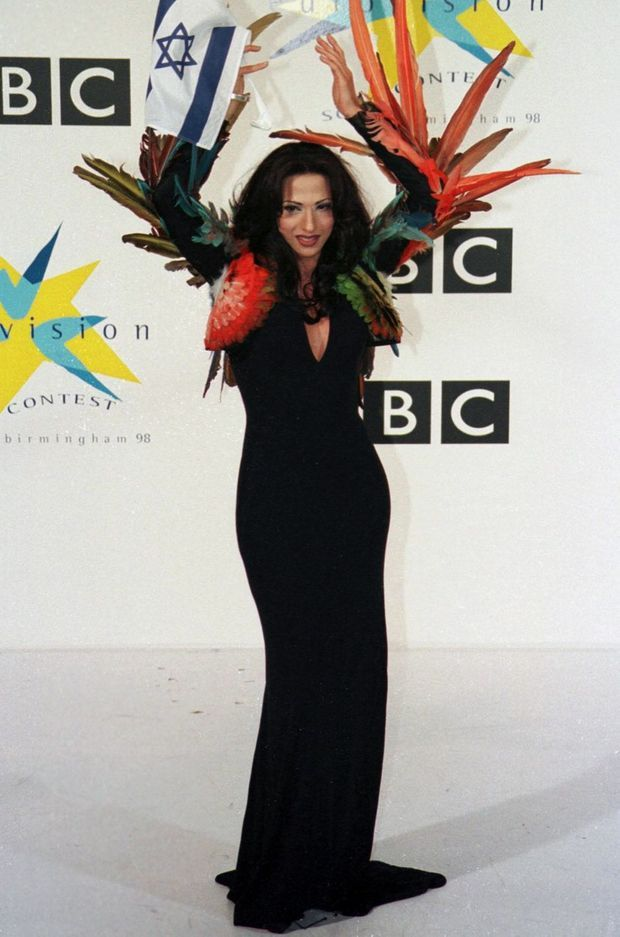 Dana International gagnante de l'Eurovision 1998.