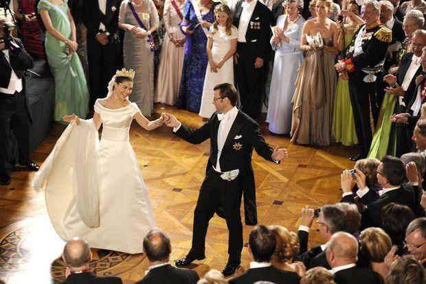 Daniel et Victoria de Suède lors de leur mariage en 2010