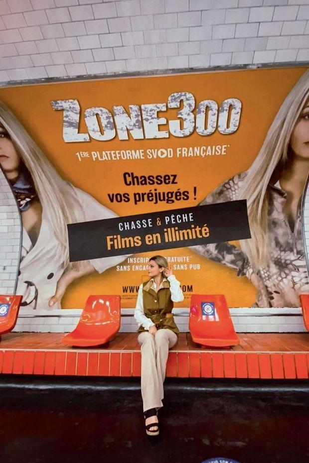 Dans le métro parisien pour la campagne de pub de Zone 300, le « Netflix de la chasse »