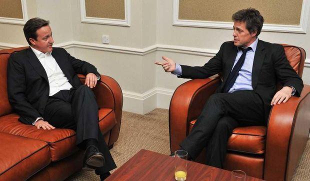 David Cameron et Hugh Grant-