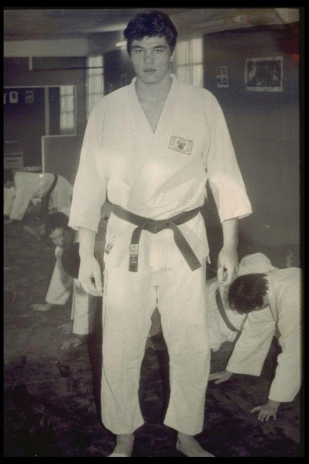 David Douillet en 1988. Le futur champion est âgé de 19 ans.