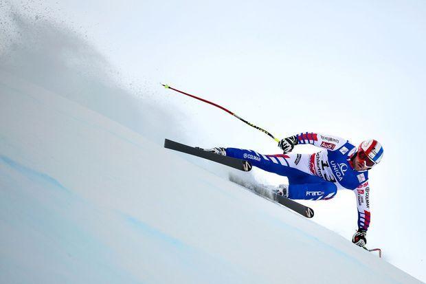 David Poisson aux championnats du monde de Schladming, en Autriche, en 2013. Il avait remporté la médaille de bronze.