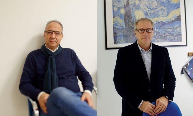 De g. à dr., les deux initiateurs du projet : Nicola Boscoletto, président de la coopérative Giotto, et Salvatore Pirruccio, directeur de la prison de Padoue de 2002 à 2015.