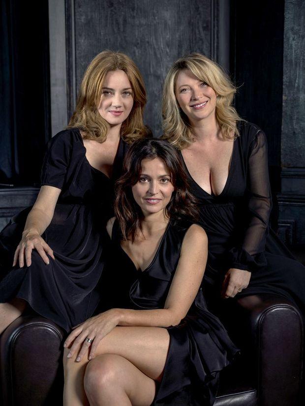 De g. à dr.: Marine Delterme («Alice Nevers», TF1), Anne Charrier («Marjorie» et «Chefs», France 2), et Cécile Bois («Candice Renoir», France 2).
