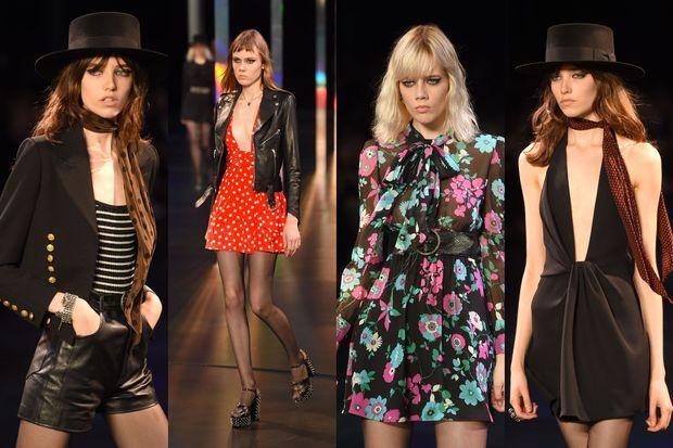 La collection Saint Laurent a été présentée lundi soir.