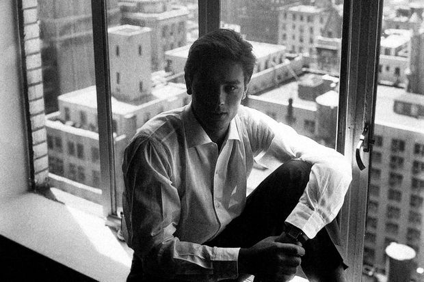 Delon à New York en 1958.