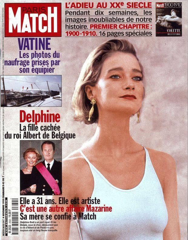 Delphine Boël en couverture de Paris Match n°2632, 4 novembre 1999
