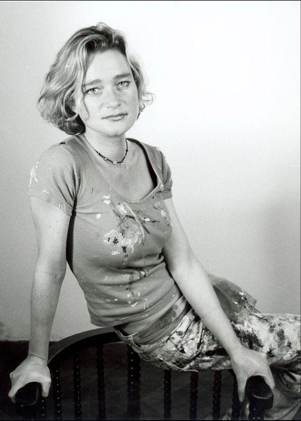 Delphine Boël, fille cachée du roi Albert II de Belgique, en décembre 2001.