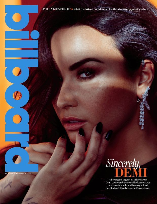 "Demi Lovato en couverture du magazine ""Billboards"""