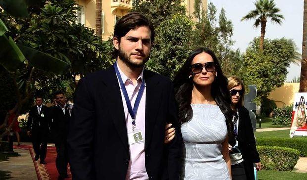 Demi Moore et Ashton Kutcher à un forum à Louxor-