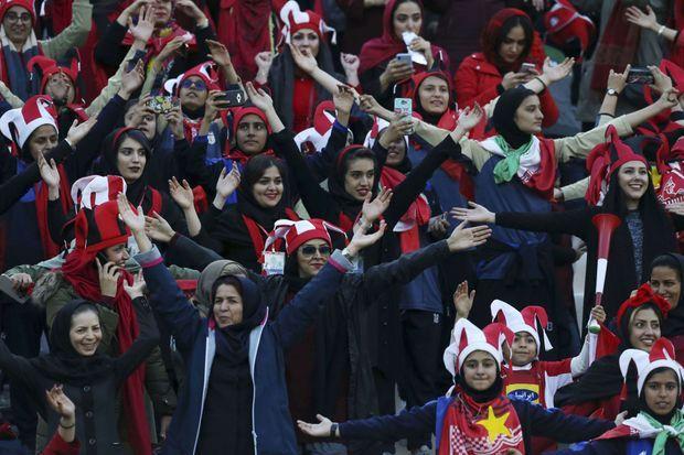 Des femmes, en novembre 2018, ont eu l'autorisation d'assister à un match à Téhéran.