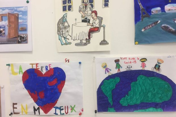Quelques dessins réalisés par les enfants.