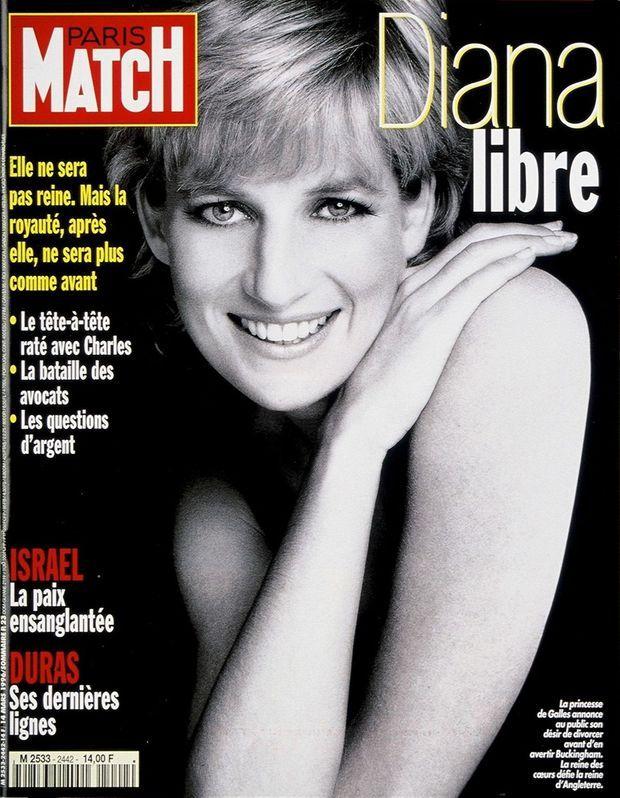 « Diana libre », en couverture de Paris Match n°2442, 14 mars 1996