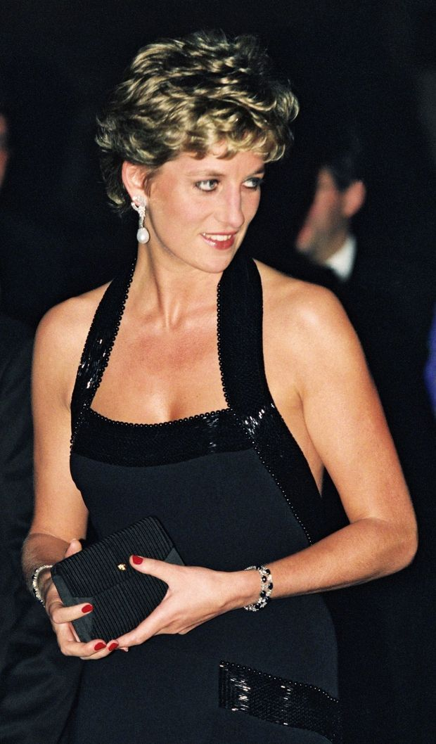 Diana en visite à Paris en novembre 1994.