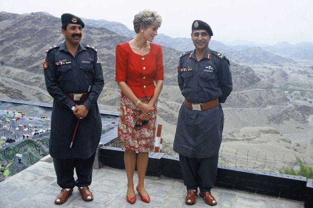 Lady Diana lors de sa visite au Pakistan en septembre 1991