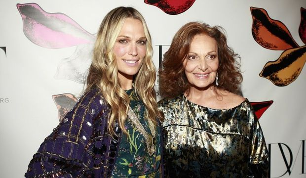 Diane von Furstenberg et Molly Sims-