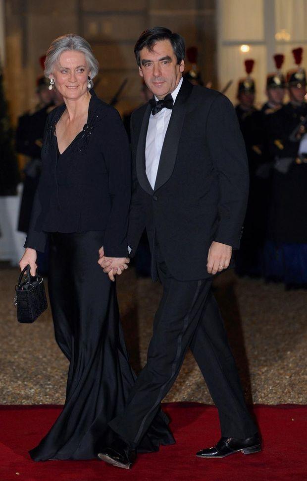 Dîner de gala à l'Elysée, en mars 2008, donné en l'honneur du président israélien, Shimon Peres.
