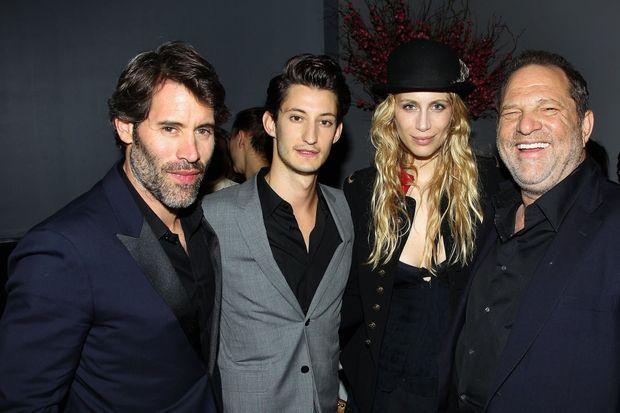 Distribué par Harvey Weinstein (à dr.), son film « Yves Saint Laurent », avec Pierre Niney et Marie de Villepin, sort aux Etats-Unis en juin 2014