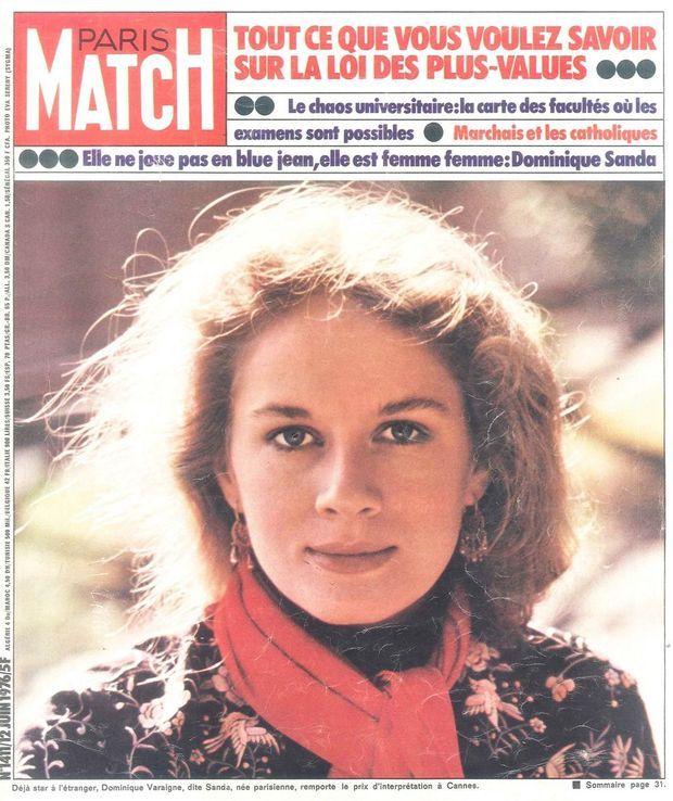 Dominique Sanda en une de Paris Match le 12 juin 1976.