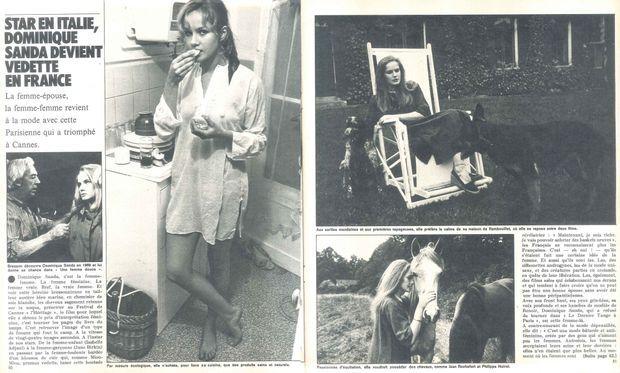 Dominique Sanda pose pour Match dans sa maison de famille à Rambouillet.