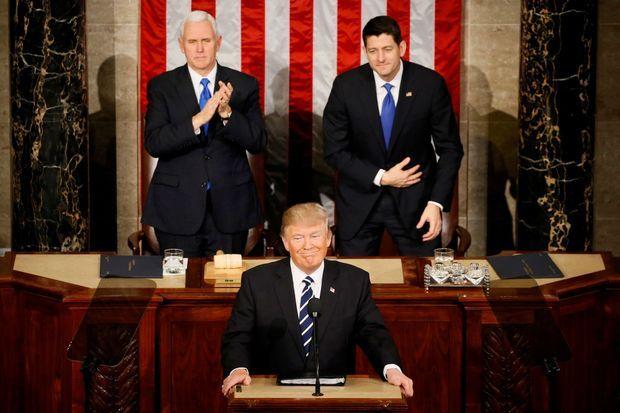 Donald Trump a prononcé son premier grand discours de président.