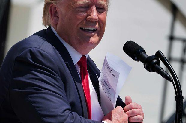 Donald Trump à la Maison-Blanche, le 15 juillet 2019.