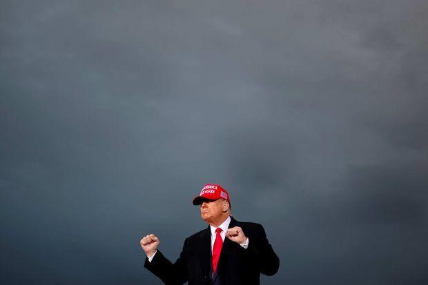 Donald Trump à Muskegon, dans le Michigan, le 17 octobre 2020.