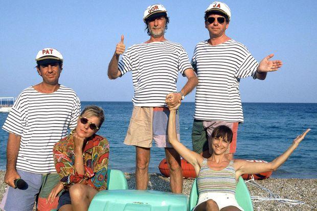 """Dorothee, Ariane, Patrick Simpson-Jones, Corbier, Jacky dans """"Club Dorothee Vacances"""", en 1993."""