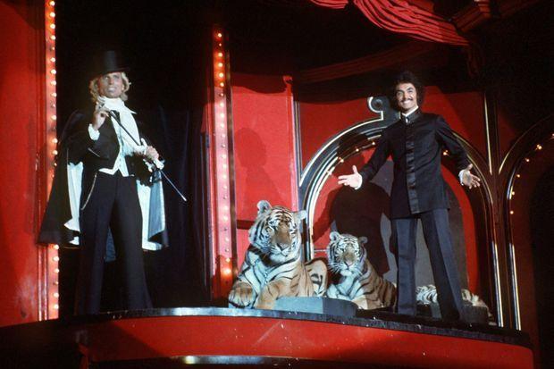 Le duo de magiciens en 1978.