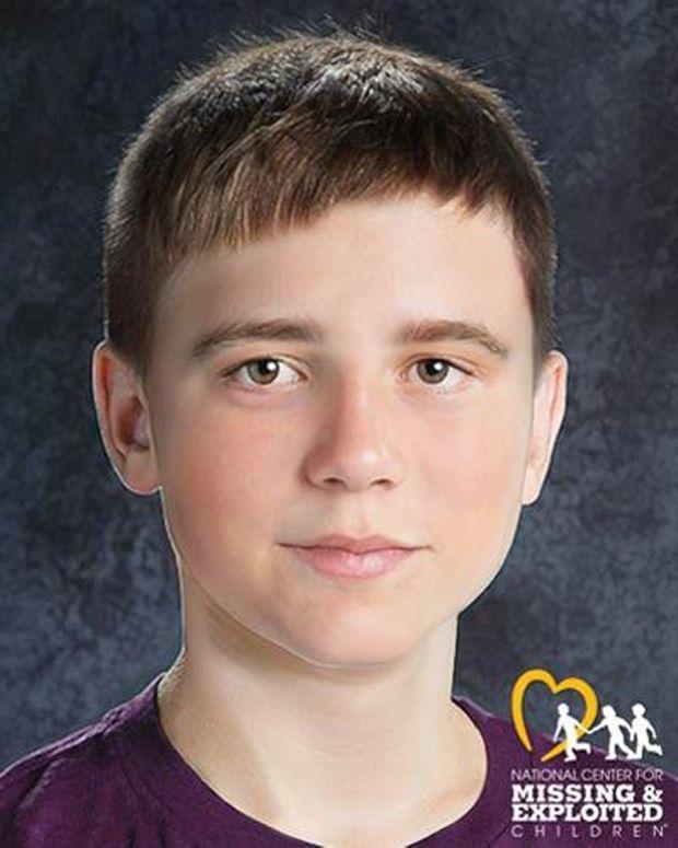 Le visage de Steven, modifié numériquement pour afficher ce à quoi il pourrait ressembler aujourd'hui, à 12 ans.