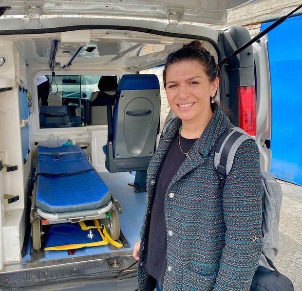 Elle a apporté une ambulance et deux tonnes de matériel medical